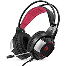 EasySMX Auriculares Gaming, PS4 Headset con LED Luz y Flexible Micrófono, Cascos Compatible con PC/PS4 (Negro)