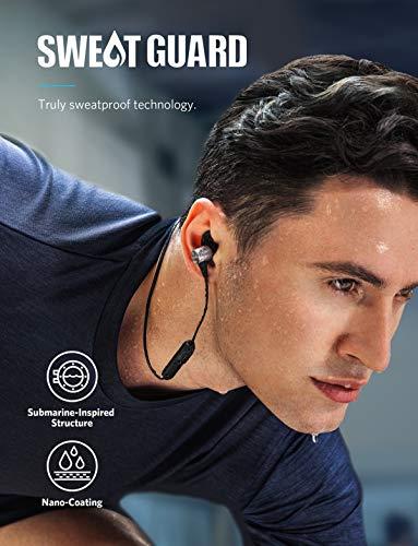 Soundcore Spirit Pro Bluetooth Kopfhörer, In Ear magnetisches Headset mit Dualem EQ/ 10 Stunden Akkulaufzeit/IPX 7 SweatGuard Technologie, für Sport, Workouts und viel mehr (Grau) - 2