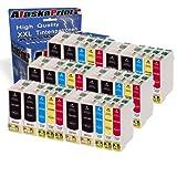 30er Set Druckerpatronen Kompatibel für Epson T1301 - T1304 XL Tintenpatronen für Stylus Workforce WF3520 WF3530 WF3540 3010DW WF7015 WF7515 WF3010 Stylus Office BX525WD BX525W BX925FWD Stylus SX525 SX535 SX620 Epson stylus Office BX535WD BX630FW BX635FWD BX935FWD SX535WD BX625FWD Workforce WF-3010DW WF-3520DWF WF-3540DTWF WF-7015 WF-7525 WF7515 WF-3530DTWF Patronen 30xT13011-Epson