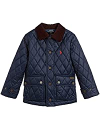 Ralph Lauren Polo Navy Blue Quilted Barn Jacket Boys  UK L/G