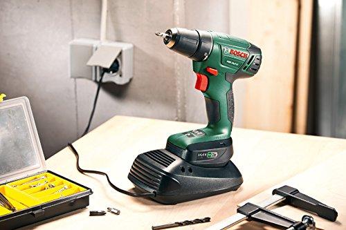 Bosch DIY Akkuschrauber PSR 14,4 LI, Akku, Ladegerät, Doppelschrauberbit, Koffer