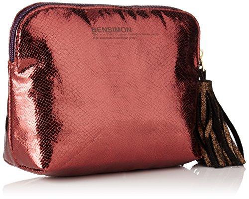 Bensimon - New Pocket, Pochette da giorno Donna Multicolore (Python Bordeaux)