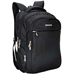 Cosmus Atomic Dx 3 Compartment Large Laptop Bag - Black Polyester Waterproof Laptop Backpack