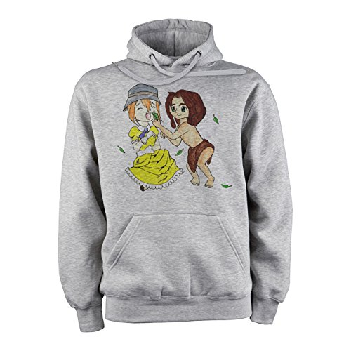 Tarzan And Jane By Blazing Sapphire Medium Unisex Hoodie (Tarzan Und Jane Outfits)
