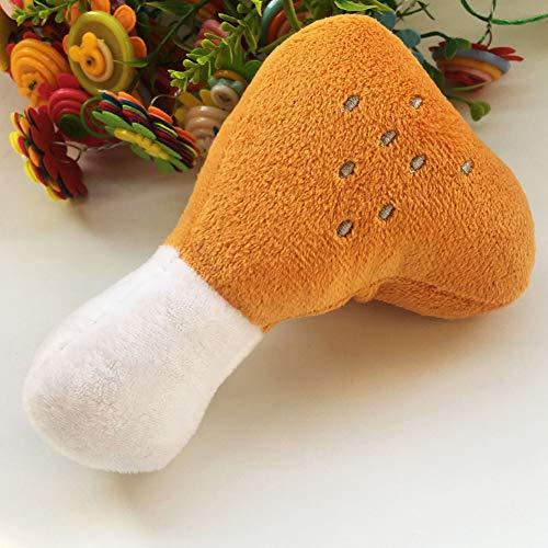 SYN Hundespielzeug, mit Quietschelement, mit Früchtemotiv, Plüsch, Wie abgebildet, Single Bone Chicken Legs -