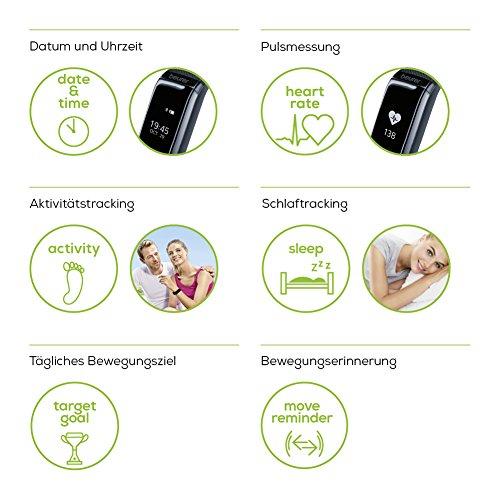 Beurer AS 97 Aktivitätstracker und Fitnessarmband mit Pulsuhr, Aktivitätssensor, Schlafanalyse, Schrittzähler, Bewegungserinnerung und App - 2