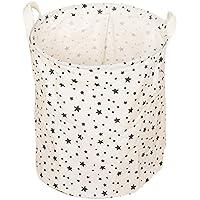 aloiness grande para ropa sucia bolsa estrellas patrón bolsa de almacenamiento para juguetes ropa organizador de maquillaje–Cesta de la compra plegable bolsa polvo cesta caja de almacenamiento casa