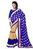 Jay Varudi Creation Women's Blue & Beige...