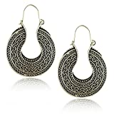 #10: Shining Diva Fashion Stylish Oxidized Silver Fancy Party Wear Earrings For Women and Girls
