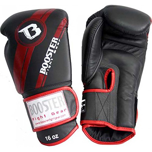 Booster BGL-1 V3 Boxhandschuhe Black / Red Foil Leder, Unzen:14 oz