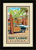 Northwest Art Mall ed-5733mfgdm BAX Key Largo Florida Beach Zugang gerahmtes Wandbild Kunst von Künstlerin Evelyn Jenkins Drew, 33x 40,6cm