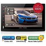 Autoradio Android CREATONE AMG-7001 | 2DIN Naviceiver | GPS Navigation (Europa-Karten) | DVD-Player | DAB+ | Quad-Core CPU | 4K Ultra HD | WLAN | Bluetooth 4.0 (iOS und Android) | MirrorLink | RDS