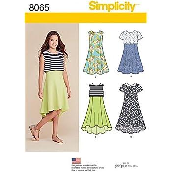 Simplicity Schnittmuster Kleider, Kinder-8065/, Mieder: Amazon.de ...