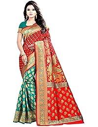 Jay Fashion Women's Banarasi Silk Saree With Blouse Piece (Jfss3_Multicolor)