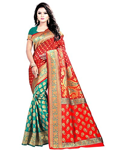AKSH Fashion chekered zari work banarasi silk new ...