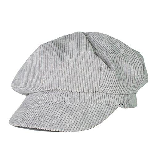 Kuyou Winter Gatsby Newsboy Barett Cap Schirmmütze Kappe Hut (Grau)