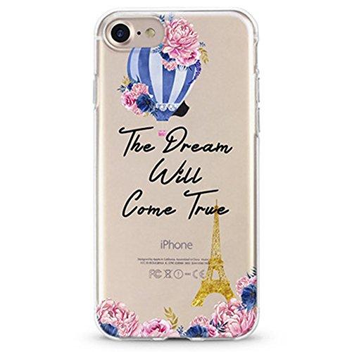 Panelize iPhone 7 Country Hülle Schutzhülle Handyhülle Hard Case Cover Kratzfest Rutschfest Durchsichtig Klar (Countray Eifelturm) Countray Eifelturm