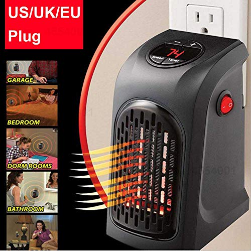 Jukkre Smart Space Heater Portable 400W Handy Mini Heater for Office Home Outdoor Living