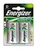 Energizer NimH-Akku Rechargeable Power Plus Mono (D) (1,2Volt 2500mAh, 2er-Packung)