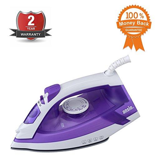 steam-iron-ceramic-soleplate-2000-watts-3m-10ft-power-cord-200ml-water-tank-2-years-guarantee-purple