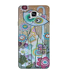Citydreamz Cute Cat Floral Abstract Design Hard Polycarbonate Designer Back Case Cover For Samsung Galaxy A5 2016 Edition/Samsung Galaxy A510