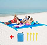 Beach Blanket Mat Sand Proof, Large Size 275 x 213cm for 8 Adults