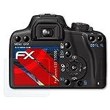 atFoliX Panzerfolie für Canon EOS 1000D / Rebel XS Folie - 3 x FX-Shock-Clear stoßabsorbierende ultraklare Displayschutzfolie
