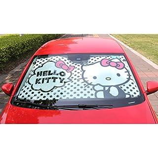 MFEIR Hello Kitty Black Auto Sonnenblende Sonnenschutz Frontscheibe Blendschutz Windschutzscheibe Schattenspender Autozubehör im Sommer