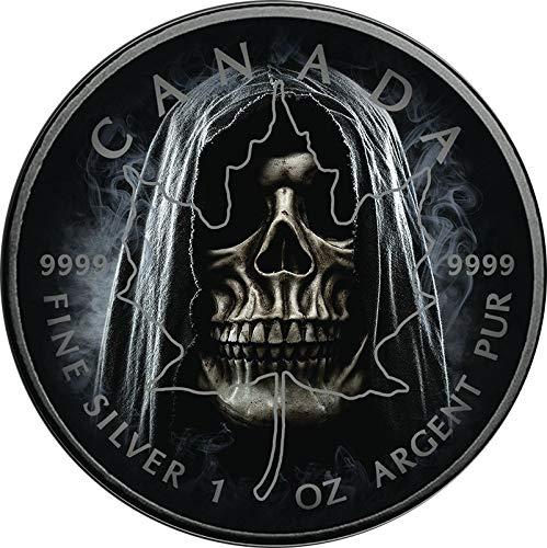 Power Coin Smoke Grim Reaper Gevatter Tod Maple Leaf 1 Oz Silber Münze 5$ Canada 2018 - Spielzeug Reaper Grim