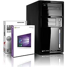 Shinobee PC Unité centrale pour ordinateur de bureau (Processeur Intel - Quad-Core - 4x2GHz, 2.41GHz en mode turbo - 500Go SATA3 - Intel HD Graphics - Mémoire RAM 8Go - Windows10 64 Bits - Lecteur graveur DVD - HDMI, VGA - USB 3.0) #4919