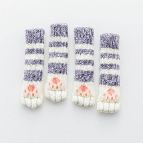 PCSACDF 4Pcs /Set Cute Cat Paw Table Chair Foot Leg Knit Cover Protector Socks Sleeve Protector Good Scalability Non-Slip Wear 7A0475 M 3 -
