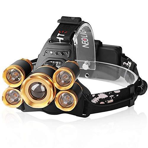 Kopflampe, LED Stirnlampe USB Wiederaufladbar Kopflampe Akku 5 Lichtmodi 120LM, Pefekt für Spazieren Wandern Joggen Laufen Campen