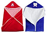 #7: My NewBorn Velvet Baby Blanket Baby Wrapper Baby Sleeping Bag With Zipper-Combo Of 2 - Red And Blue