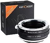 K&F Concept Objektivadapter kompatibel mit MAF-NEX Minolta SA AF MAF auf Sony NEX Alpha E-Mount Adapter Adapterring Kamera Objektiv