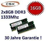 Mihatsch & Diewald / CSX 16GB Dual Channel Kit 2 x 8 GB 204 pin DDR3-1333 SO-DIMM (1333Mhz, PC3-10600S, CL9) passend fü