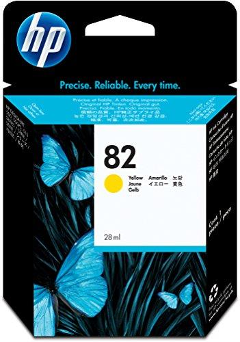 HP 82 Cartouche d'encre d'origine 1 x jaune