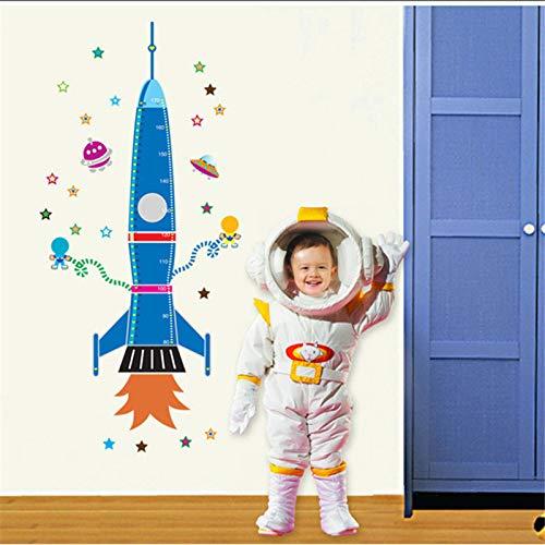 Kinder Raumschiff Schlafzimmer Dekoration Höhe Wandaufkleber Rocket Kids Raumschiff Wachstum...