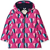 Hatley Mädchen Regenjacke Microfiber Rain Jackets, Pink (Hearts), 4 Jahre