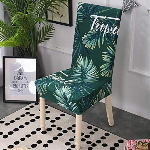 FREEZGTZ 2 Pcs Stuhlbezug Rückendeckel Aus Polyester Abwaschbar Abnehmbare Europäische Schutzhülle Für Stühle Mit Hoher Rückenlehne Startseite Allgemein Grüne Blätter