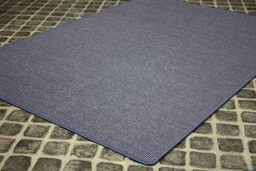Sisal Teppich Manaus gekettelt Blau 24 Grösse: 165 x 235cm