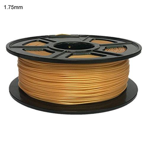 Filamento PLA 1.75mm, 1kg filamento de impresora 3d Premium/2.2lb 1.75mm 3mm PLA, impresora 3d filamento pla para todos los tipos de impresora fdm3d, 1Spool, rubio, 1