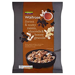 Sweet & Nutty Raisin, Almond & Honey Oat Clusters Waitrose 1kg