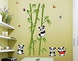 UberLyfe Cute Pandas and Bamboo Trees Wa...