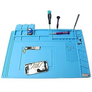 DANIU 45x30cm Magnetische Wärmedämmung Silikon Pad Schreibtisch Matte Wartungsplattform mit Magnetteil