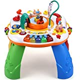 Musik Activity Spieltisch Lernspielzeug mit Lichtern und Liedern Hochgeschwindigkeitszug für Babys ab 6 Monaten Weihnachtsgeschenk
