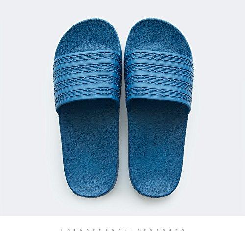 DogHaccd pantofole,Home bagno pantofole estate coppie femmina interni in plastica home anti-scivolo per raffreddare le pantofole maschio Blu scuro3