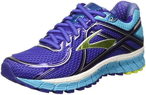 Brooks Adrenaline Gts 16, Zapatillas de Entrenamiento para Mujer, Morado (Spectrum Blue/Lime Punch/Blue Atoll), 40 EU