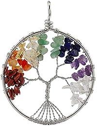 Pasa el ratón por encima de la imagen para ampliarla Aituo amuleto crystal Cuarzo Árbol de Vida colgante para collar DIY. 7 Chakra Gemstone colgantes para la familia. Mejores amigos por boutiquelovin