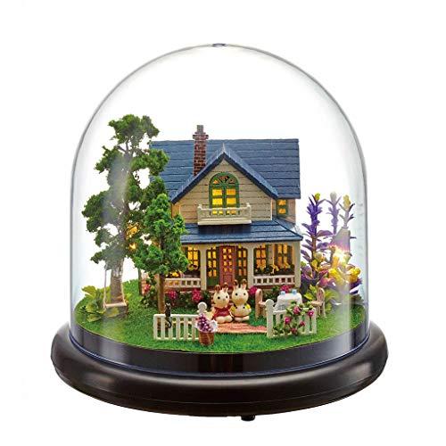 F-blue Kinder Erwachsene Miniatur Puppen Modell Staubschutz Holzmöbel Puppenhäuser Spielzeug