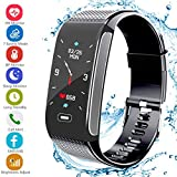 Fitness Tracker Activity Sports Watch with Pedometer Heart Rate Monitor 7 Sports Mode Step Calorie Distance Tracker IP67 Waterproof Call SMS SNS Remind for Men Women Compatible with Android IOS